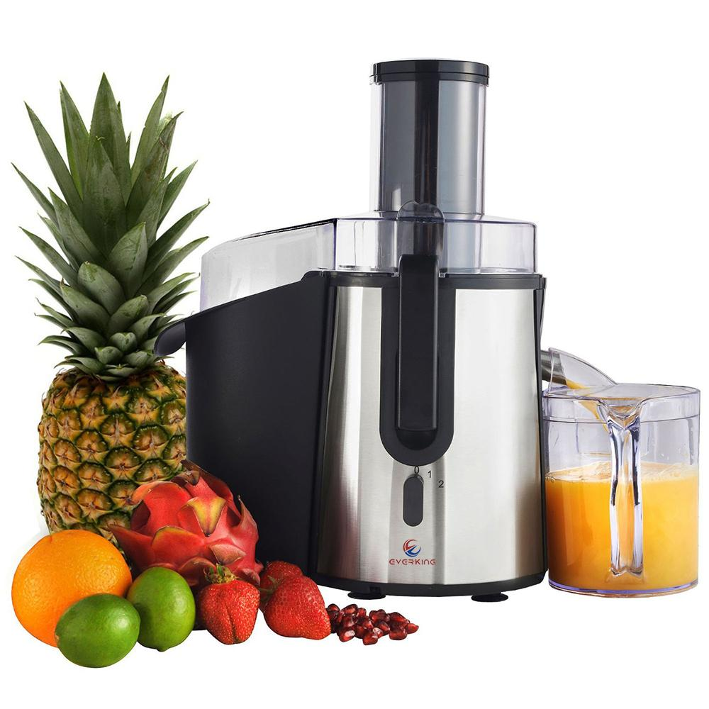 700 Watt Big Mouth Juice Extractor, Stainless Steel Juicer Machine with Easy Sweep Cleaning Tool