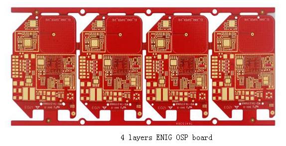 4 Layers ENIG OSP board