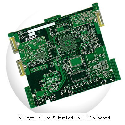 6-Layer Blind & Buried HASL PCB Board