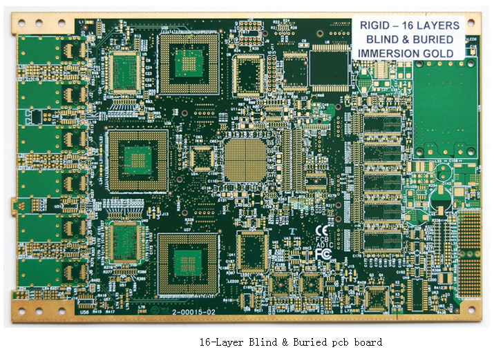 16-Layer Blind & Buried pcb board
