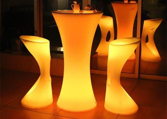 illuminate glow LED lighting  wine cocktail table