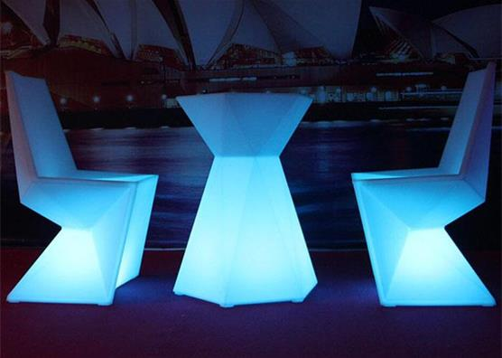16 colors changed rechargeable LED modern bar table