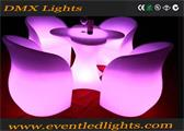 outdoor plastic illuminated LED lighting chairs for events party