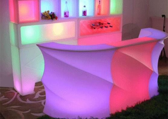 PE rechargeable outdoor  LED lighting mobile bar counters
