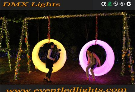 outdoor plastic illuminated led lighting swings for garden
