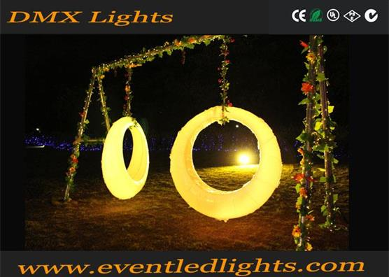 outdoor rechargeable illuminated led swing