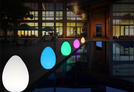 Swimming pool decorative waterproof illuminate led egg balls