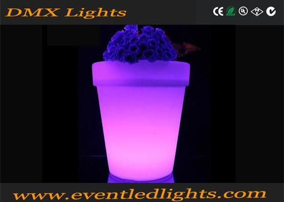 solar system power supply outdoor garden decorative modern lighting flower pot with LEDS