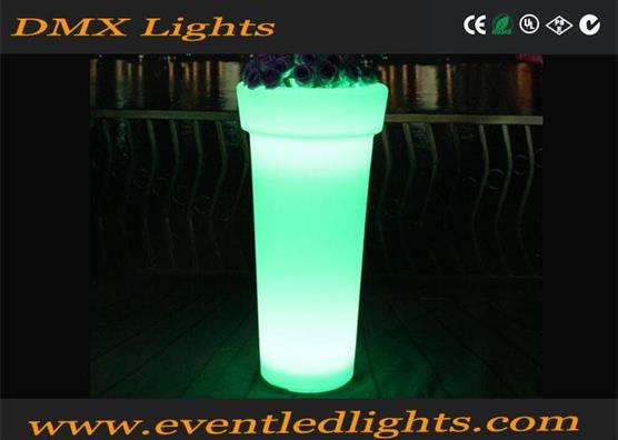 outdoor garden events party wedding decor LED illuminated glow colorful rechargeable flower pots