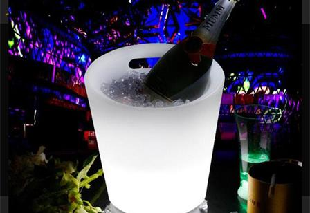 waterproof rechargeable colorful PE illuminated glow led ice bucket
