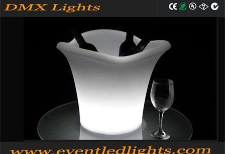 Low price plastic champagne wine vodka whisky rgb flash led ice bucket