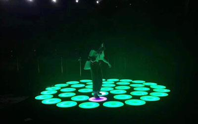 LED round dance floor with music