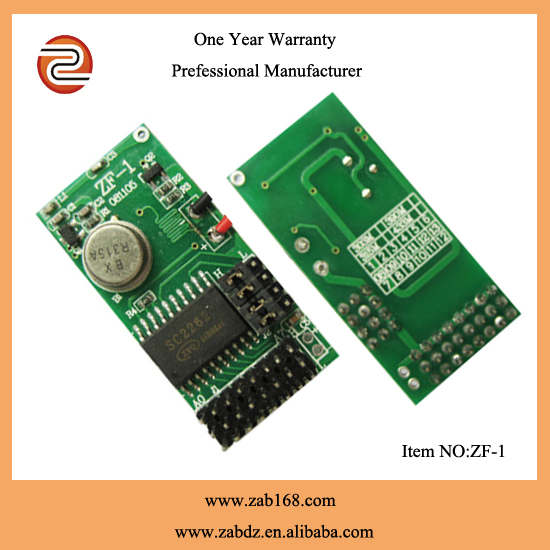 High stability PCB circuit board fixed code wireless rf